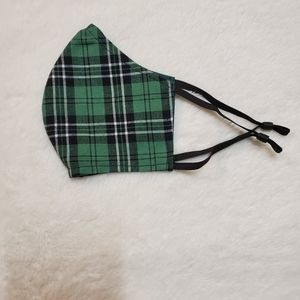 Accessories - NEW Homemade Face Mask Green Plaid